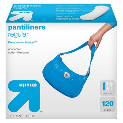 up & up Thin Pantiliners Regular Unscented - 120 Count