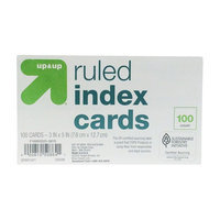 up & up Ruled Index Cards 3 in. x 5 in. - White - 100ct