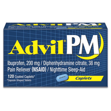 AdvilPM Pain Reliever and Nighttime Sleep Aid Caplets - 120 Count