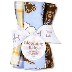 Trend Lab 102614 Bouquet 5 Pack Wash - Cowboy Baby