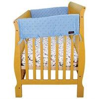 Trend Lab 30311 Cribwrap Wide Rail Cover - Short Blue Star Velour