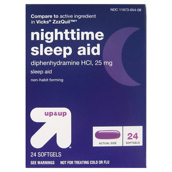 Up & Up Nighttime Sleep Aids Softgels - 24 count