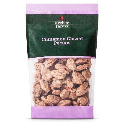 Archer Farms Cinnamon Glazed Pecans 11 oz Reviews on planters cheese balls, planters almonds, planters walnuts, planters pistachios,