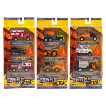 Funrise Tonka Die Cast 3 Pack - Construction Vehicles