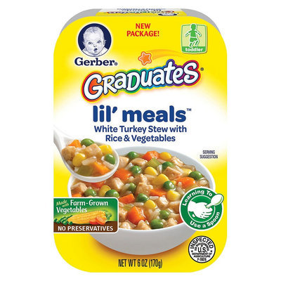 Gerber Graduates Lil Meals White Turkey Stew with Rice & Vegetables 6 oz