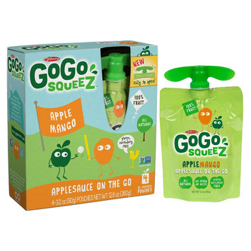 GoGo squeeZ Applesauce On The Go Apple Mango Pouches 3.2 oz 4 ct