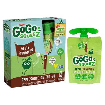 GoGo squeeZ Applesauce On The Go Apple Cinnamon Pouches 3.2 oz 4 ct