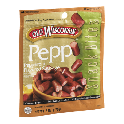 Old Wisconsin Pepp Snack Bites Pepperoni Flavored Sausage