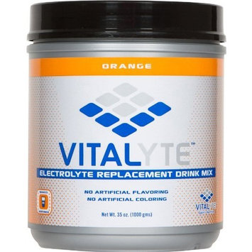 Vitalyte Natural Electrolyte Replacement Powder Sports Drink Mix, 80 Servings Per Jar, Orange