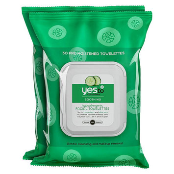 Yes To Cucumbers Face Cleanser Towelettes - 2 Pack