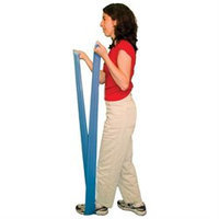 Cando 10-5254 - Band Exercise Loop - 10 Inch Long - Blue - Heavy