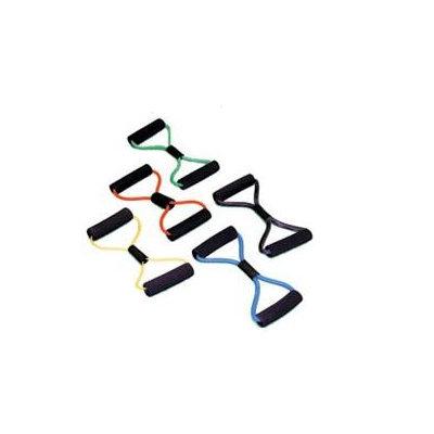 Cando 10-5576 - Tubing BowTie Exerciser - 14 Inches - Silver - XX-Heavy