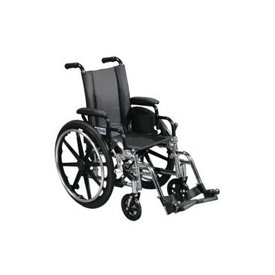Drive Medical L418ADDA-ELR Viper Wheelchair with Flip Back Removable Adjustable