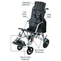 Drive Medical TR 8028 Wenzelite Rehab Foot and Ankle Positioner for Wenzelite Trotter Convaid Style Mobility Rehab Stroller- Black