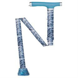 Drive Medical Glow and Go Folding Cane Tie-Dye