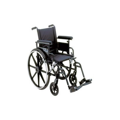 Drive Medical PLA422FBFAAR-SF Viper Plus GT Wheelchair with Flip Back Removable