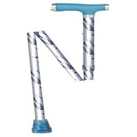Drive Medical Glow and Go Folding Cane Silver Mist