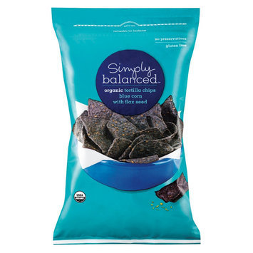 Simply Balanced Organic Blue Corn with Flax Seed Tortilla Chips 12 oz