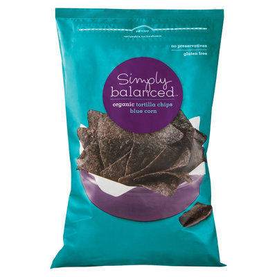 Simply Balanced Organic Blue Corn Tortilla Chips 12 oz