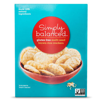 Simply Balanced Gluten Free Multi- Seed Brown Rice Crackers