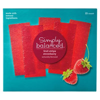 Simply Balanced Strawberry Fruit Strips 25 ct