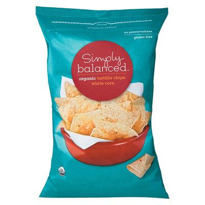 Simply Balanced Organic White Corn Tortilla Chips 12 oz
