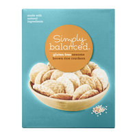 Simply Balanced Gluten Free Sesame Brown Rice Crackers
