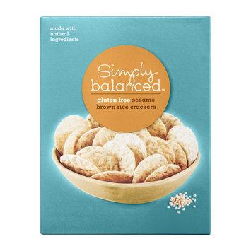 Simply Balanced Gluten Free Sesame Brown Rice Crackers