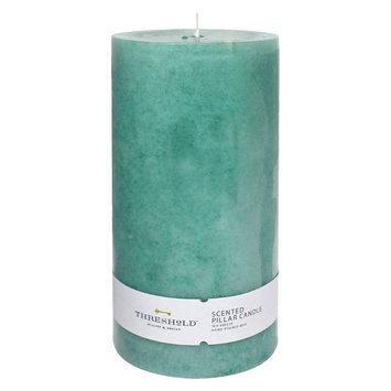 Threshold Blue Pillar Candle 3