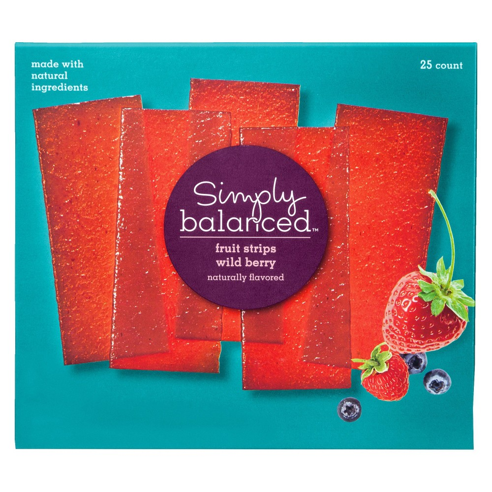 Simply Balanced Wild Berry Fruit Strips 25 ct