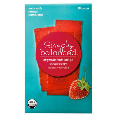 Simply Balanced Organic Strawberry Fruit Strips 10 ct