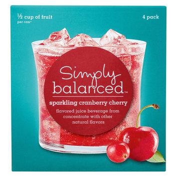 Simply Balanced Sparkling Cranberry Cherry 4 pk