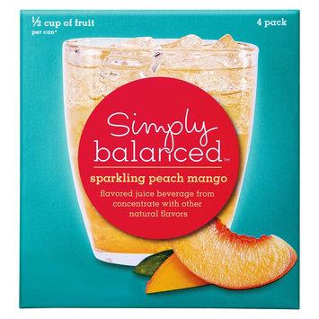 Simply Balanced Sparkling Peach Mango 4 pk