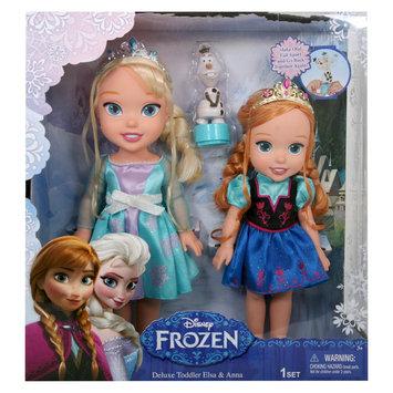 Jakks Pacific Disney Frozen Deluxe Toddler Elsa and Anna Dolls