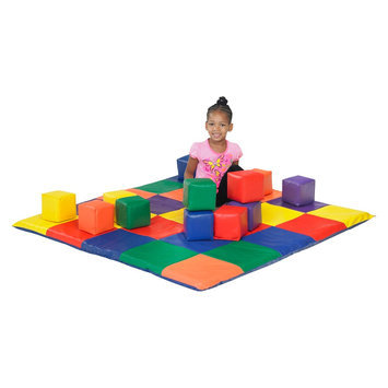 ECR4Kids SoftZone Patchwork Toddler Mat