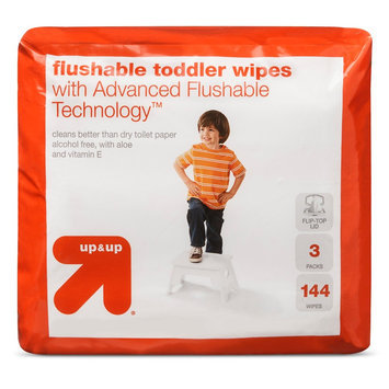 up & up Flushable Toddler Wipes 144 ct
