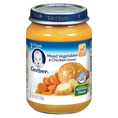 Gerber 3rd Foods Vegetable Chicken 6 oz