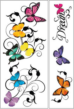 Paper House Productions, Inc Sticky Pix Removable & Repositionable Ultimate Wall Sticker Mini Mural Appliques - Butterfly