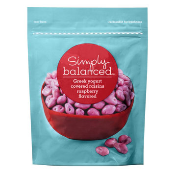 Simply Balanced Raspberry Greek Yogurt Covered Raisins 5 oz