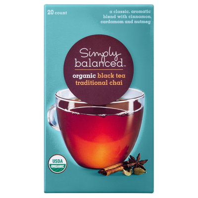 Simply Balanced Organic Traditional Chai Black Tea 20 ct