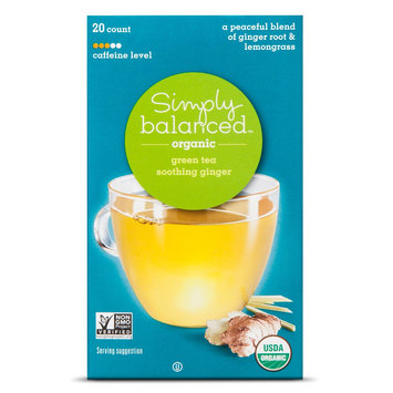 Simply Balanced Organic Soothing Ginger Green Tea 20 ct