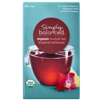 Simply Balanced Organic Tropical Hibiscus Herbal Tea 20 ct