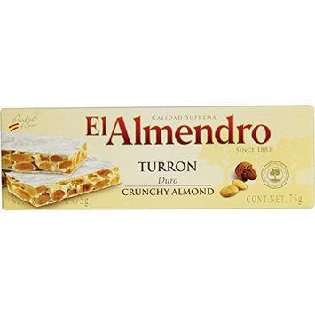EL Almendro Turrón EL Almendro Turron Crunchy Almond, 2.6-Oz/75g Box (Pack of 16)