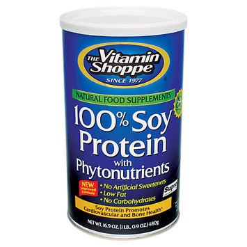 Vitamin Shoppe 100% Soy Protein With Phytonutrients Non-Gmo - 16.9 Ounces Powder - Soy / Vegetable Protein