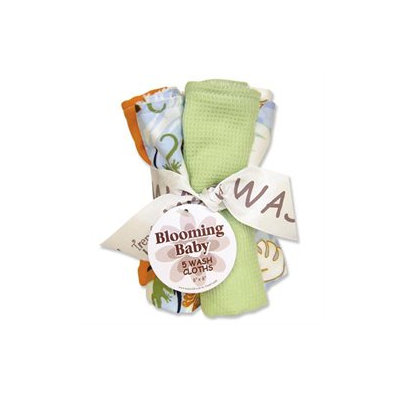 Trend Lab Blooming Bouquet Wash Cloth- 5-Pack Set