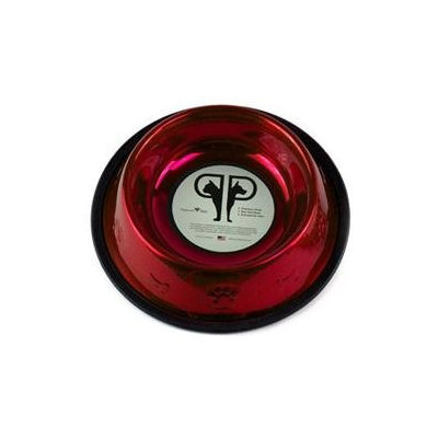 Platinum Pets Embossed Dog Bowl in Red