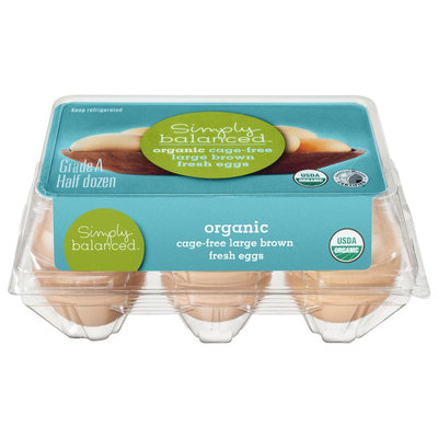 Simply Balanced Organic Cage Free Large Brown Fresh Eggs