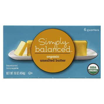 Simply Balanced Organic Unsalted Butter 1lb