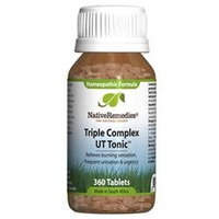 Native Remedies UTT001 Triple Complex UT Tonic for Bladder Irritation 360 Tablets