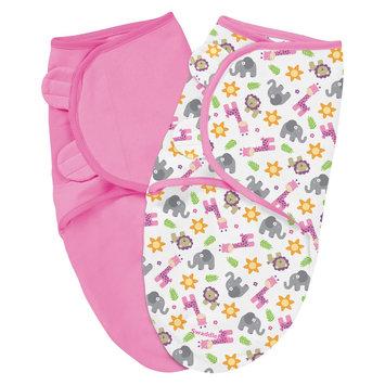 Summer Infant SwaddleMe 2 Pack - Sunny Safari (Small)